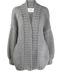 mr. mittens relaxed soft wool cardigan - grey