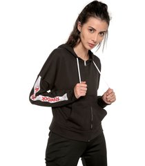chaqueta negro-blanco reebok essentials linear