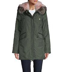 belleville 2-in-1 fox fur parka coat