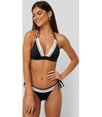 calvin klein string side tie bikini - black
