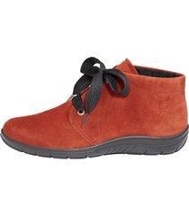skor av mjukt skinn naturläufer röd