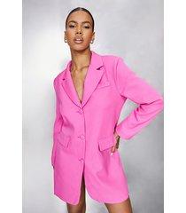oversized blazer jurk, pink