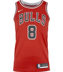 camisa regata nike nba chicago bulls icon edition swingman - masculina - vermelho