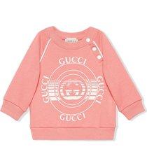 gucci pink organic cotton sweatshirt