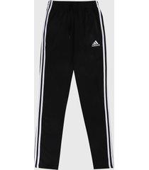 pantalón negro-blanco adidas performance essentials 3 rayas