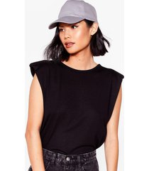 womens plain baseball cap - dark grey