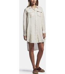 linen military shirt dress