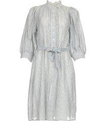 gestreepte katoenen jurk kimolos  blauw