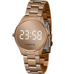 relógio digital lince feminino - mdr4617l bxrx rosê