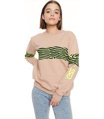 bluza klasyczna zebra pattern