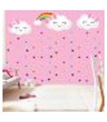 adesivo de parede chuva de amor - g 337x101cm