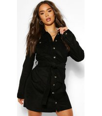 blousejurk met riem, zwart