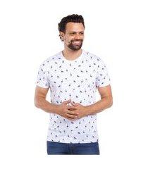 camiseta javali flamingos branca