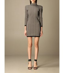 balmain dress balmain mini dress with all over monogram