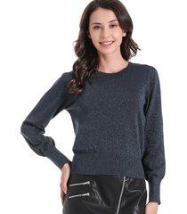 sweater con brillos azul nicopoly