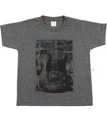 camiseta ano zero malha vintage silk guitarra grafite