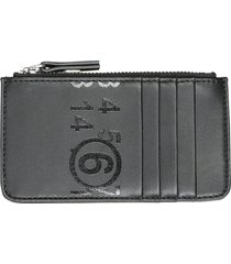 mm6 maison margiela small card holder with zip