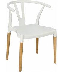 krzesło fotel whisper białe