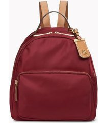 tommy hilfiger women's solid dome backpack deep rouge -