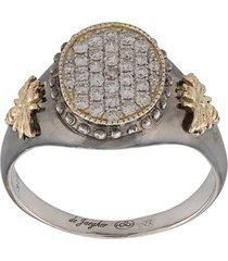 de jaegher silver embossed bees ring - metallic