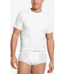 hanes men's big & tall 4-pk. cotton crew-neck undershirts
