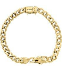 effy men's 14k goldplated sterling silver panzer chain bracelet