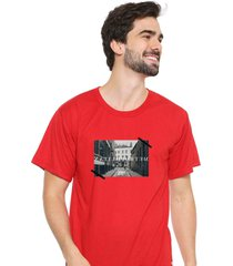 camiseta sandro clothing memory vermelho - vermelho - masculino - dafiti