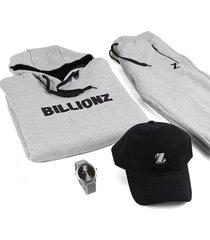 conjunto gris billionz iconic max
