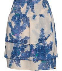 skirt w. smock at waist and frills kort kjol blå coster copenhagen