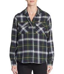 split chiffon-back shirt