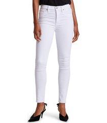 women's hudson barbara high waist raw hem ankle skinny jeans