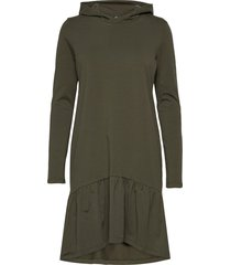 kadana linda hoodie dress dresses everyday dresses groen kaffe
