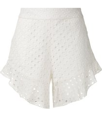 olympiah orchid patterned shorts - white
