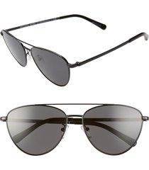 women's michael kors 58mm pilot sunglasses -