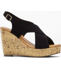 sandali con zeppa (nero) - bpc bonprix collection