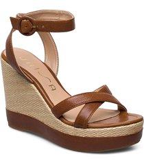 montea_gcr sandalette med klack espadrilles brun unisa