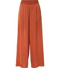 pantaloni a palazzo in satin con poliestere riciclato (rosso) - bodyflirt