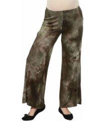24seven comfort apparel women's comfortable maternity palazzo pants