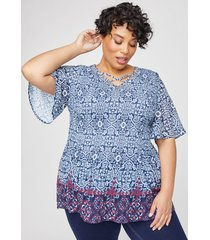 fairville pleated georgette top