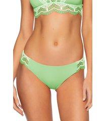 women's becca delilah american bikini bottoms, size medium - green