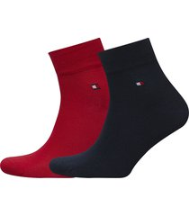 th men quarter 2p underwear socks regular socks röd tommy hilfiger