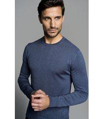 sweter nagel półgolf niebieski 0001