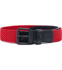 emporio armani kids buckle-fastening two-tone belt - red