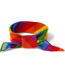 mens multi rainbow fabric bandana*