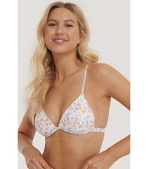 na-kd swimwear vadderad bikinitopp - multicolor