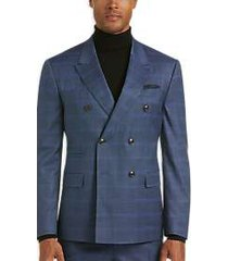 james tattersall kings cross blue plaid slim fit suit