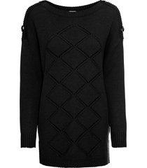 maglione con bottoni (nero) - bodyflirt boutique
