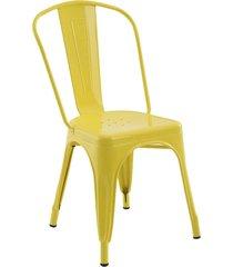 conjunto 02 cadeiras iron amarela