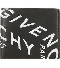 givenchy logo print bifold wallet