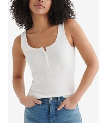 women's essential henley tank top